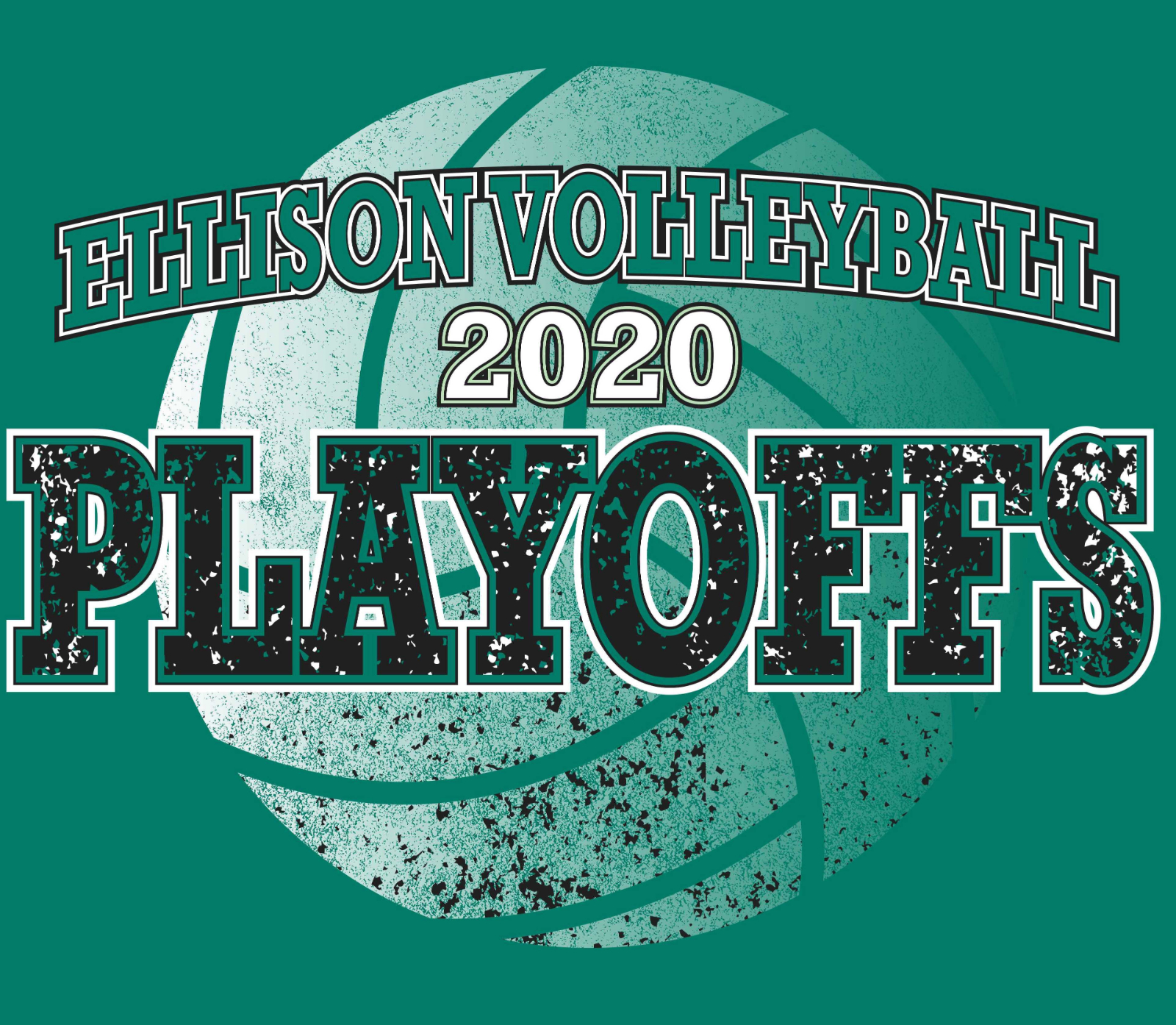 Ellison Volleyball 2020 Playoff Shirts