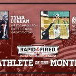 And the Rapid Fired Pizza September Athlete of the Month is…
