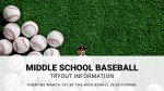 Middle School Baseball Tryouts