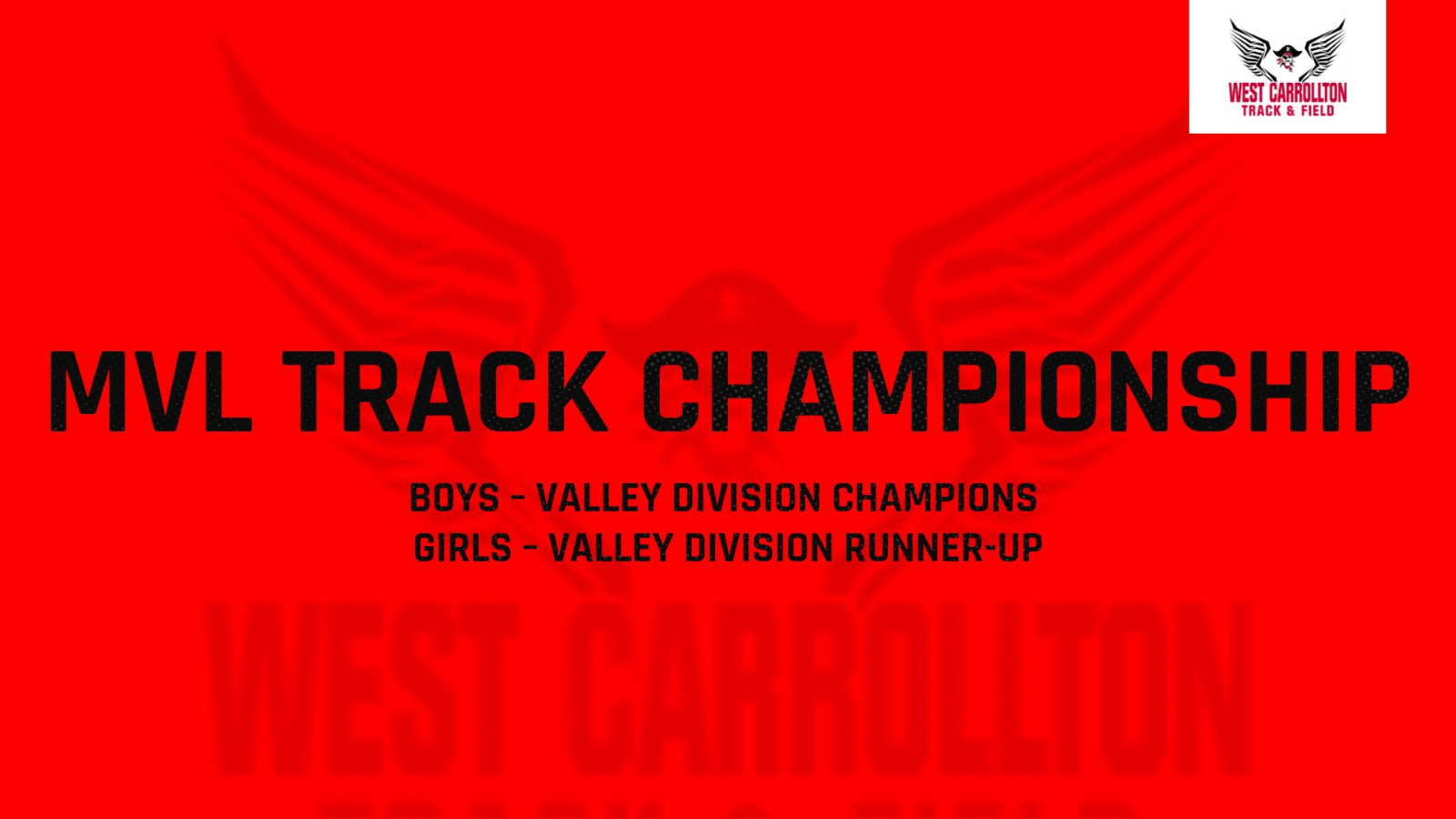 Strong Showing From the Pirates Track Teams at the MVL Championship Meet
