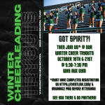CHEERLEADERS WINTER TRYOUTS
