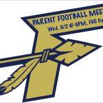 Parent Football Meeting Tomorrow Evening
