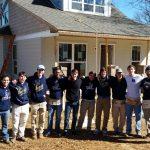 Boys Lacrosse volunteers at Habitat for Humanity