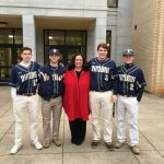 Baseball seniors volunteer at Pine Street
