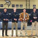 Boys relay swim team presented State Championship Rings
