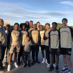 Boys basketball volunteer at Mary H. Wright