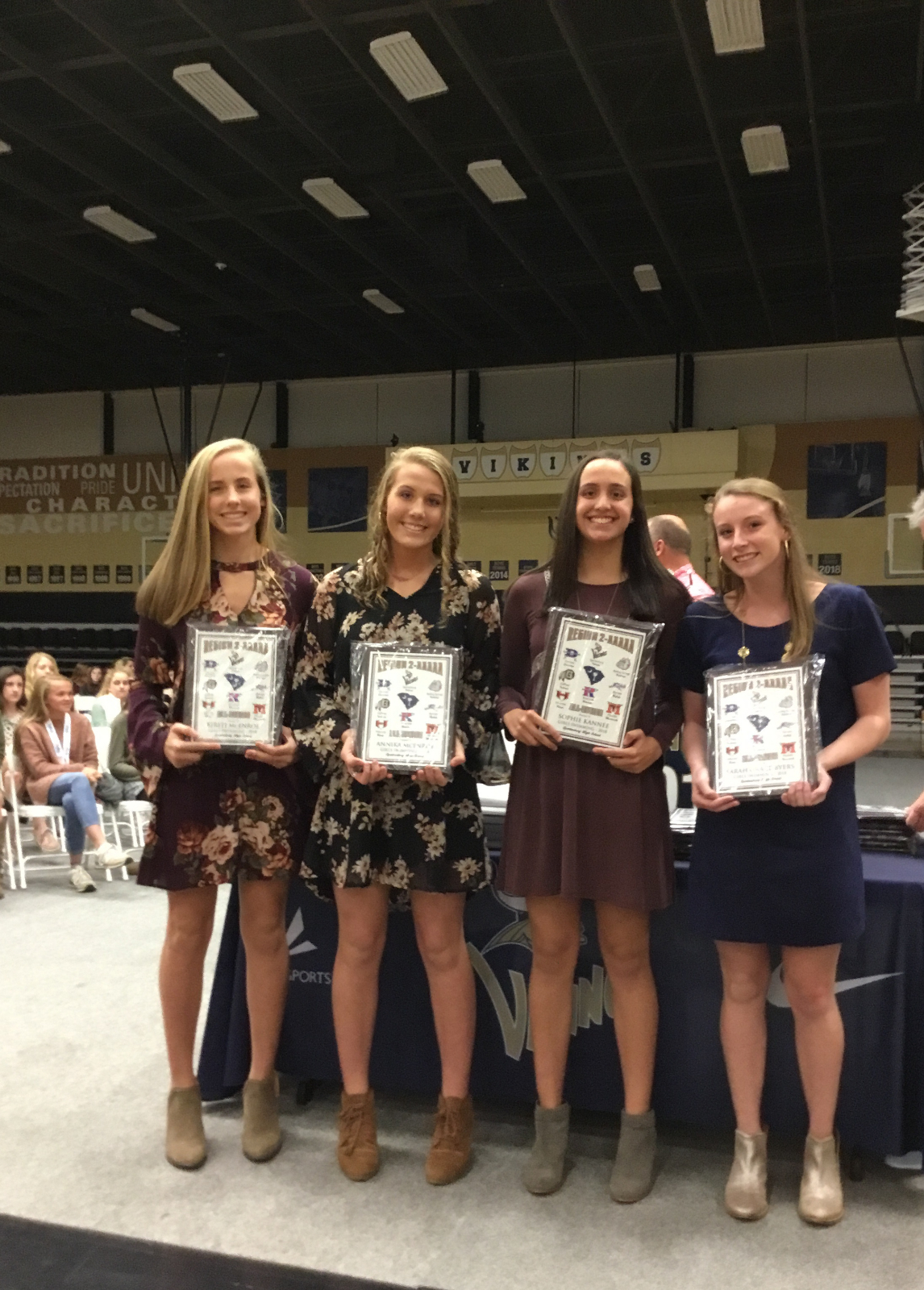 Girls Swim Team Awards