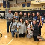 Girls tennis presented state championship rings