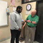 Malik Shuler receives North South Ring