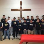 Wrestling team volunteers