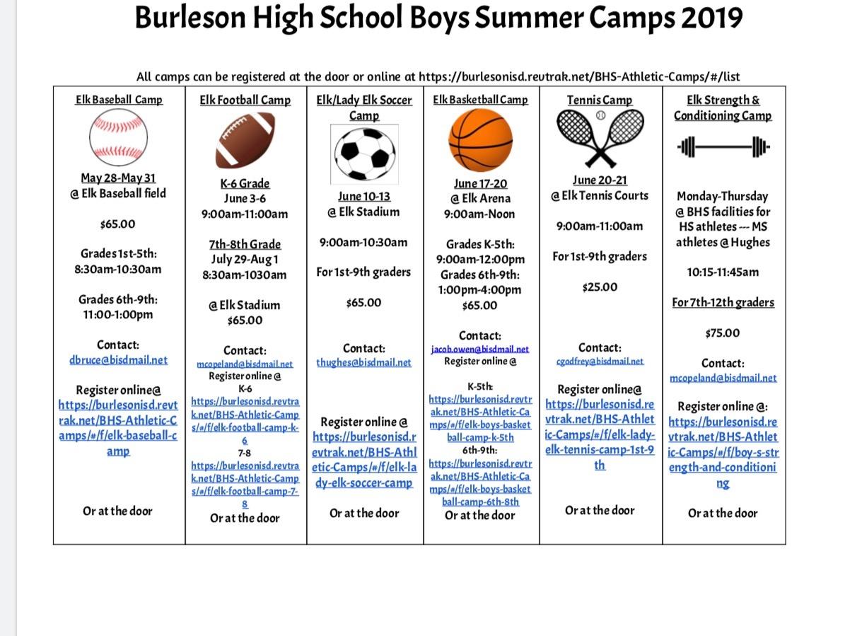 Elk Summer Camps 2019