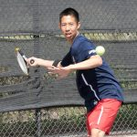 Maranatha High School Boys Varsity Tennis beats Valley Christian High School 9-9 (69-68)
