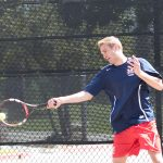 Maranatha High School Boys Varsity Tennis beats Valley Christian High School 9-9 (69-68)