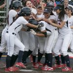 Maranatha High School Varsity Softball beat Whittier Christian High School 5-4