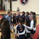 Maranatha High School Girls Varsity Volleyball beat San Gabriel High School 3-0