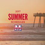 Summer Practice Schedules