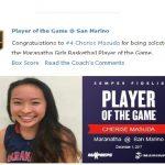 Girls Varsity Basketball beats San Marino 31 – 30