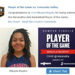 Girls Varsity Basketball falls to Crescenta Valley 65 – 36