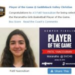 Girls Varsity Basketball beats Saddleback Valley Christian 71 – 15