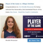 Girls Varsity Basketball falls to Village Christian 57 – 50