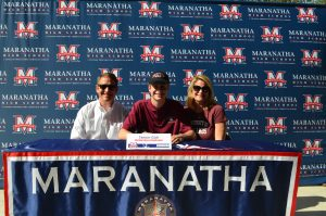 Tanner Gish signs to swim at The University of Redlands