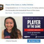 Girls Varsity Basketball beats Valley Christian/Cerritos 60 – 42