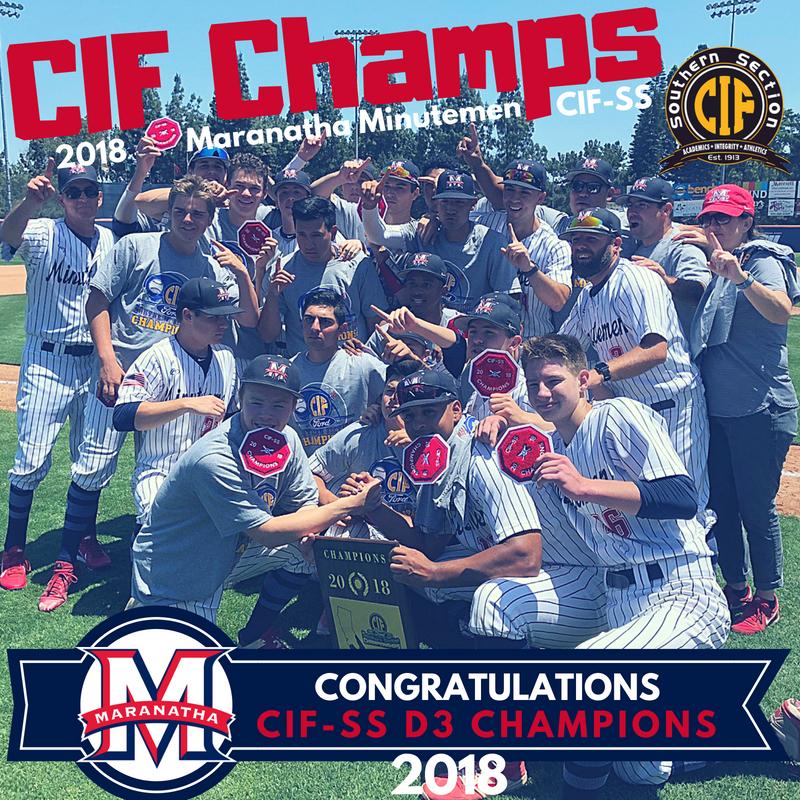 CIF-SS Baseball Champions