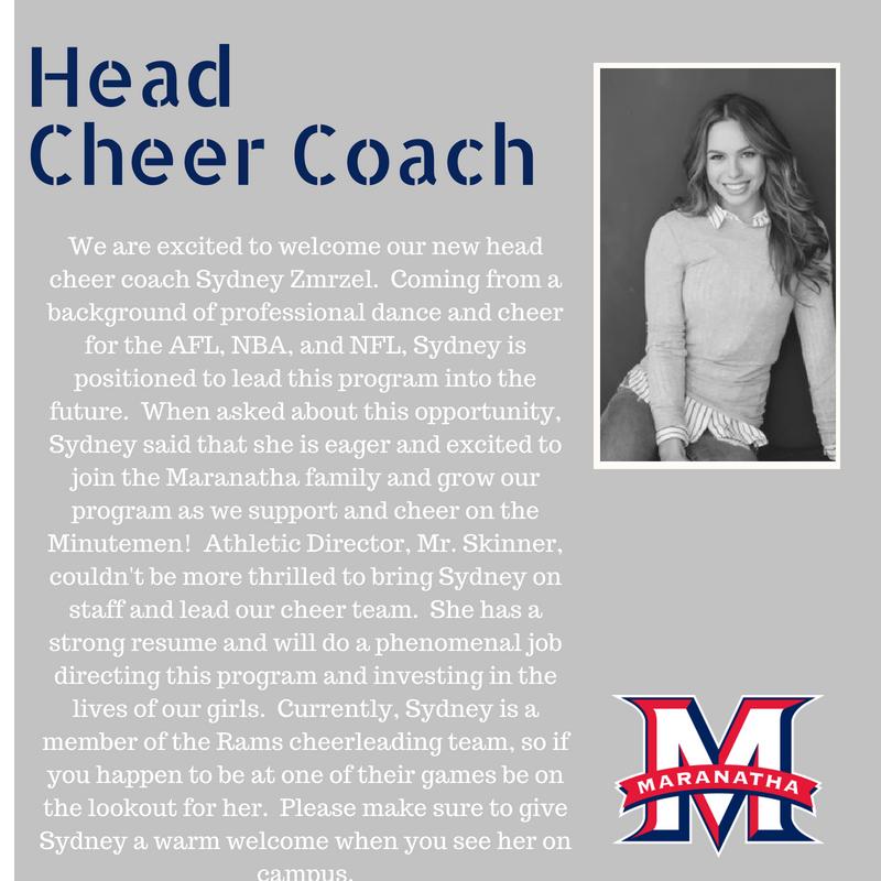 Head Cheer Coach