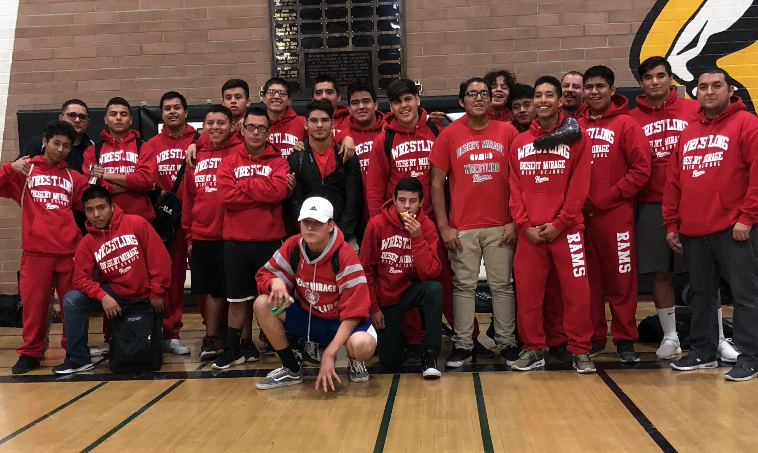 Desert Mirage's Varsity Wrestling Team beats Yucca Valley in League Opener!