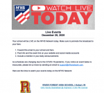 Information on GBB RF at Highland NFHS Live Stream at 6pm on 12-28-20