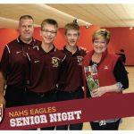 Varsity Bowling Senior Night 2/2/2018