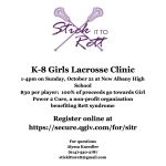 """Stick it to Rett"" Girls Youth Lacrosse Clinic"