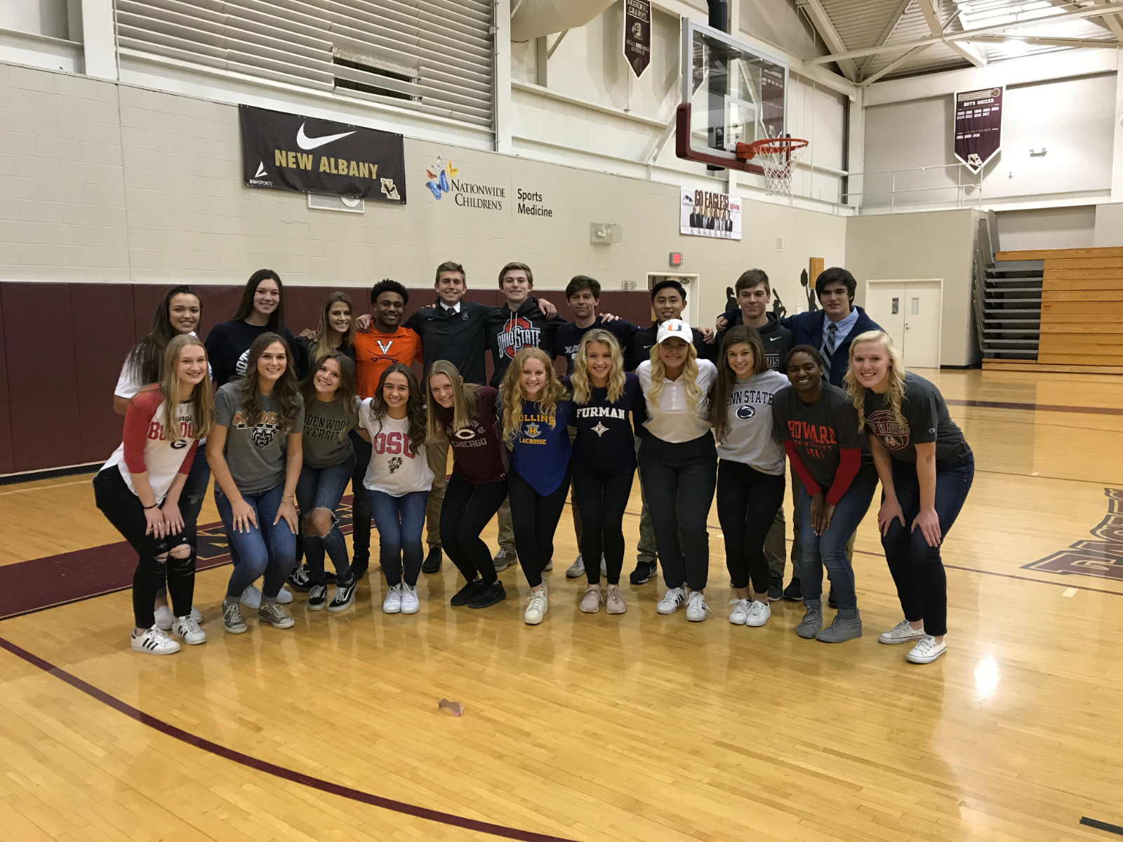 "21 NAHS Student-Athletes Commit on ""Signing Day"""