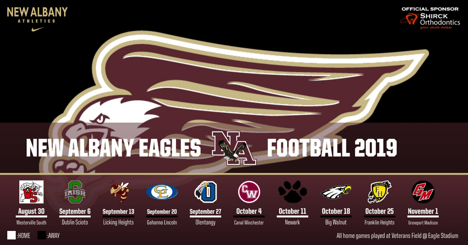 2019 New Albany Football Schedule