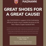 Magnanni Shoe Sale To Benefit NAHS Baseball