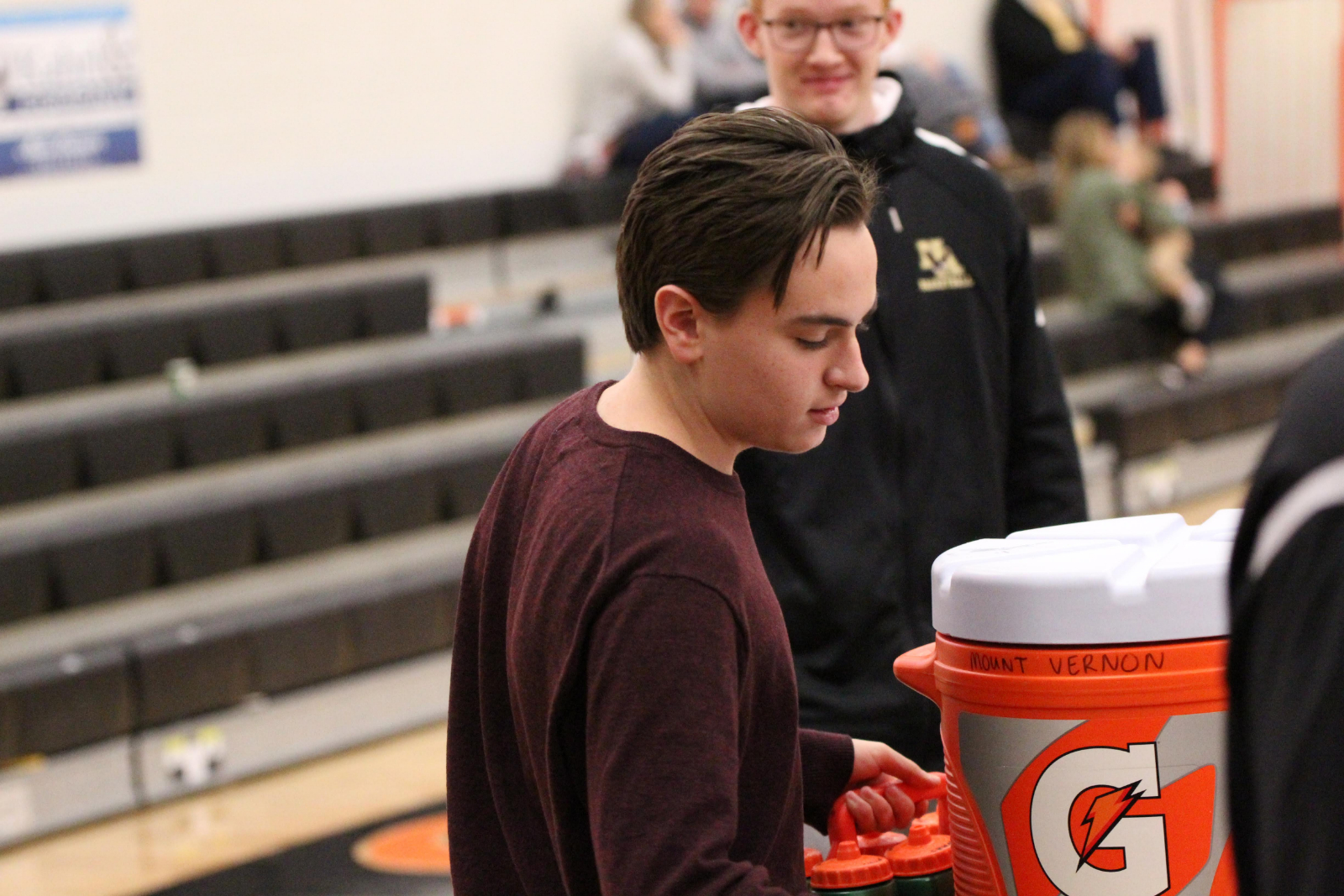 Graham Griffith Helps Boys Basketball Team Behind Scenes (ThisWeek Sports Article)