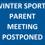 Winter Sports Parent Meeting – Postponed