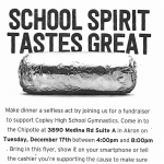 Support The Gymnastics Club Chipotle Night – December 17th