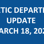 Athletic Department Update – March 18, 2020