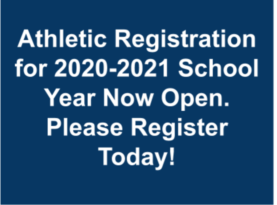 2020-2021 Athletics Registration is Now Open