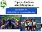 Fall Athletics Parent Meeting Online
