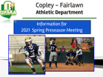 Spring Sports Parent and Player Information