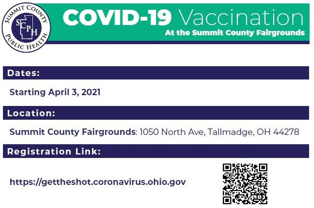 Summit County Mass Vaccination Clinic – Sunday April 18