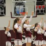 Cheerleaders Perform Fight Song at Southern Wells
