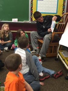 High School BB Teams Visit Elementary