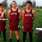 Wes-Del High School Boys Varsity Track finishes 2nd place