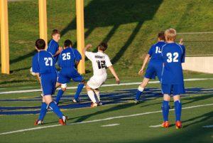 Saline Boys JV Soccer beat Lincoln 8-0 early in 2nd half