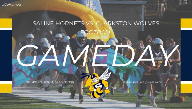 Hornet Football State Semifinal Saturday – 1 PM