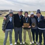 Boys Varsity Golf finishes 2nd place at Railsplitter Invite and JV wins at Skyline