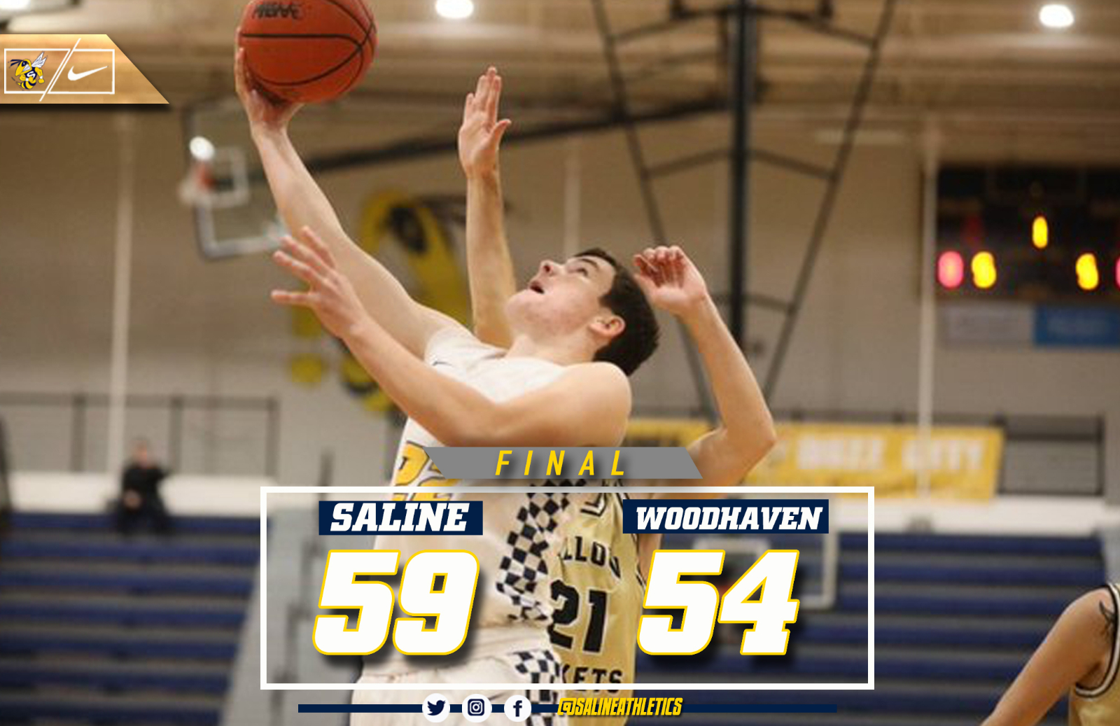 @TheSalinePost: Arico Scores 33 as Saline Defeats Woodhaven in Overtime